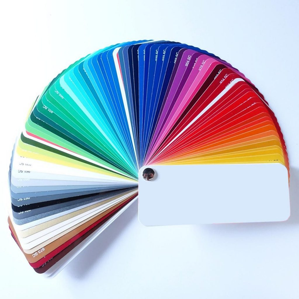 Coloured self-adhesive film